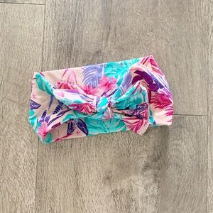 Floral baby bling bow